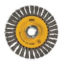 DeWALT® XP® DW49204B High Performance Wire Wheel Brush -  4 in Dia x 3/8 in W -  5/8-11 -  0.02 in Stringer Bead Wire