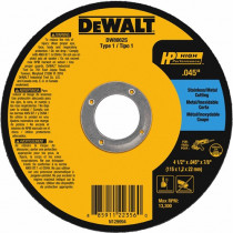"DeWALT® DW8062 - HP High Performance Series - Type 1 - 4-1/2"" x 0.045"" x 7/8""- 25 Qty"