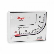Dwyer® MARK II 25 Manometer -  10 psi -  0 - 3 in WC -  140 deg F Working -  +/-3% of Full Scale -  Stand/Vertical Mount
