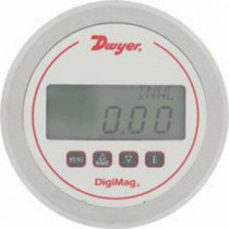 Dwyer® DM-1102 Differential Digital Pressure Gage -  5 in OD Front Face -  0 - 0.25 in WC -  +/-2 -  4 in Digit LCD Display