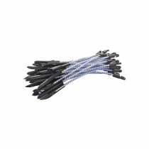Eagle Manufacturing A-BUN12 Elastic Bungee Tie With Puncture Tip and Toggle -  12 in L -  White/Black