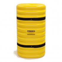 "Eagle Manufacturing - 10"" Column Protector, 42"" High, Yellow with Black Straps"