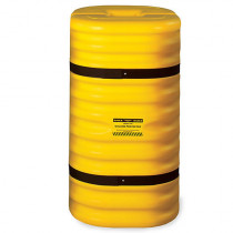 "Eagle Manufacturing - 12"" Column Protector, 42"" High, Yellow with Black Straps"