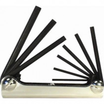 Foldup Hex Key Set 9pc 5/64 to 1/4