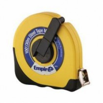 Empire® 6699 Single-Side Tape Measuring Tape -  1/2 in W x 100 ft L Blade -  Carbon Steel With Acrylic Coated -  Inch