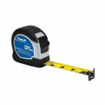 Empire® 7525 Powergrip Measuring Tape -  1 in W x 25 ft L Blade -  Steel With Nylon Coated -  Inch/Feet
