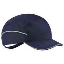 Skullerz® 8955 Lightweight Bump Cap Hat, Navy, Short Brim