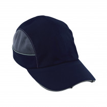 Skullerz® 23373 Short Brim Bump Cap With LED Light -  Navy -  ABS