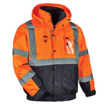 GloWear® 8381 3-in-1 Thermal High Visibility Jacket, Class 3, Quilted-Sleeves Bomber
