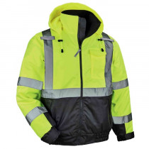 GloWear® 8377 Thermal HiViz Jacket, CL3 Quilted Bomber