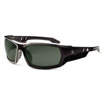 Skullerz® Odin Safety Glasses/Sunglasses, Black Frame, Polarized G15 Lens Color