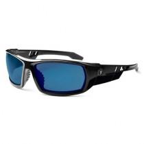 Skullerz® Odin Safety Glasses/Sunglasses, Black Frame, Blue Mirror Lens Color