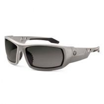 Skullerz® Odin Safety Glasses/Sunglasses, Matte Gray Frame, Smoke Lens Color