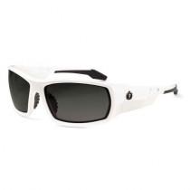 Skullerz® Odin Safety Glasses/Sunglasses, White Frame, Polarized Smoke Lens Color