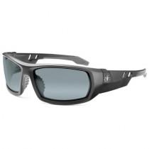 Skullerz® Odin Safety Glasses/Sunglasses, Matte Black Frame, Silver Mirror Lens Color