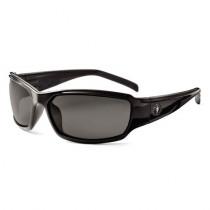 Skullerz® Thor Safety Glasses/Sunglasses, Black Frame, Polarized Smoke Lens Color