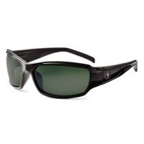 Skullerz® Thor Safety Glasses/Sunglasses, Black Frame, Polarized G15 Lens Color
