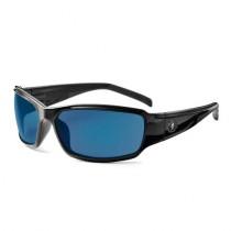 Skullerz® Thor Safety Glasses/Sunglasses, Black Frame, Blue Mirror Lens Color