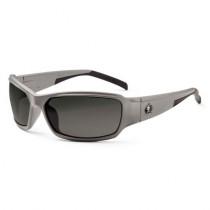 Skullerz® Thor Safety Glasses/Sunglasses, Matte Gray Frame, Polarized Smoke Lens Color