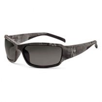 Skullerz® Thor Safety Glasses/Sunglasses, Kryptek Typhon Frame, Polarized Smoke Lens Color