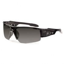 Skullerz® Dagr Safety Glasses/Sunglasses, Black Frame, Polarized Smoke Lens Color