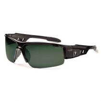 Skullerz® Dagr Safety Glasses/Sunglasses, Black Frame, Polarized G15 Lens Color