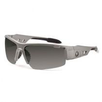 Skullerz® Dagr Safety Glasses/Sunglasses, Matte Gray Frame, Polarized Smoke Lens Color