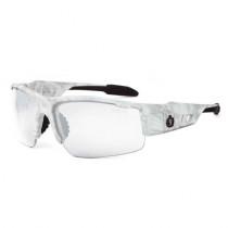 Skullerz® Dagr Safety Glasses/Sunglasses, Kryptek Yeti Frame, Anti-Fog Clear Lens Color