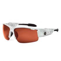 Skullerz® Dagr Safety Glasses/Sunglasses, Kryptek Yeti Frame, Polarized Copper Lens Color