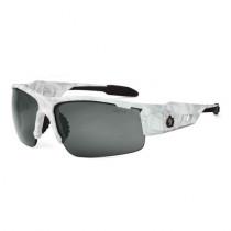 Skullerz® Dagr Safety Glasses/Sunglasses, Kryptek Yeti Frame, Smoke Lens Color