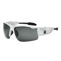 Skullerz® Dagr Safety Glasses/Sunglasses, Kryptek Yeti Frame, Polarized Smoke Lens Color