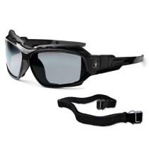 Skullerz® Loki Safety Glasses/Sunglasses, Black Frame, Silver Mirror Lens Color
