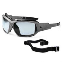 Skullerz® Loki Safety Glasses/Sunglasses, Matte Gray Frame, I/O Lens Color