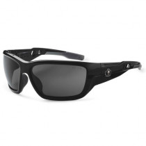 Skullerz® Baldr Safety Glasses/Sunglasses, Black Frame, Polarized Smoke Lens Color