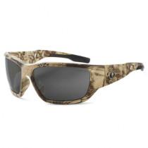 Skullerz® Baldr Safety Glasses/Sunglasses, Kryptek Highlander Frame, Polarized Smoke Lens Color