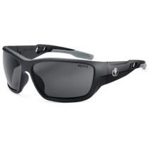 Skullerz® Baldr Safety Glasses/Sunglasses, Matte Black Frame, Polarized Smoke Lens Color