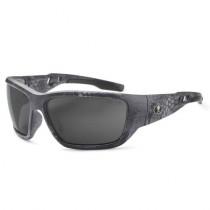 Skullerz® Baldr Safety Glasses/Sunglasses, Kryptek Typhon Frame, Polarized Smoke Lens Color