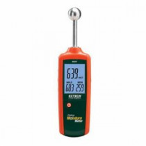 EXTECH® MO257 Pinless Moisture Meter -  0 - 100 Moisture Content -  Relative -  Multifunction Backlit Triple LCD Display