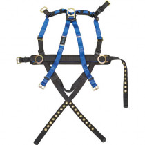 FallTech®  (7073LX) Full Body Construction Belted Harness, 3 D-Rings