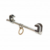 FallTech® 7531 Single Ratchet Beam Anchor -  425 lb Load -  4 to 12 in -  Aluminum Bar/Steel Jaw