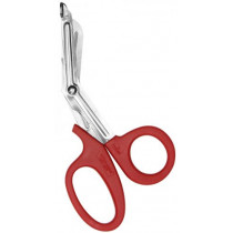 """7"""" Stainless Steel Bandage Shears, Red Handle"""