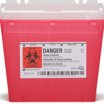 Sharps Container, Drop Lid Type, 5 Quart