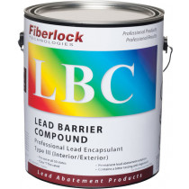 Fiberlock 5801-1 Lead Barrier Compound 4 per CASE -  1 gal -  White -  1 - 2 hr Touch -  8 - 16 hr Recoat Dry Time -  Very Slight