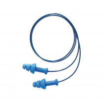 Howard Leight by Honeywell SDT-30 Corded Reusable Ear Plug 500 per CS -  Triple-Flange -  25 dB -  Blue Plug