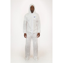 International Enviroguard Body Filter 95+® Coverall with Hood & Boot, Elastic Wrist & Ankle