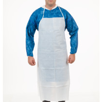 "International Enviroguard - White Duraguard Apron, 35"" x 45"", Ties in Back"