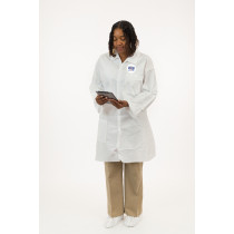 International Enviroguard MicroGuard MP® Microporous Lab Coat, Two Pockets, Open Wrist, Standard Collar
