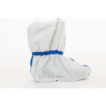 International Enviroguard ViroGuard® 2 White Boot Cover, Taped Seams, Elastic Ankle & Top, Skid Resistant Sole, 17