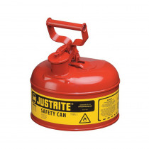Justrite® 7110100 Type I Safety Can With Full Fisted Grip Handle -  1 gal -  9-1/2 in Dia x 11 in H -  Galvanized Steel -  Red