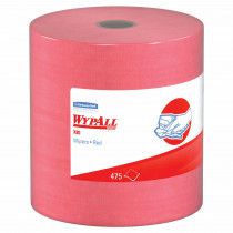 WypAll* 41055 Cleaning Wiper -  12-1/2 in W -  475 Sheets -  Hydroknit® -  Red